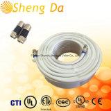 Do padrão Rg59 branco do cabo coaxial Bc para CATV