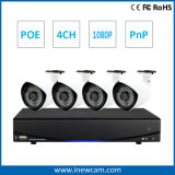 4CH 1080P Câmera IP Poe Home Security System NVR Kit