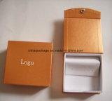Caixa de jóia luxuosa do cartão da parte superior