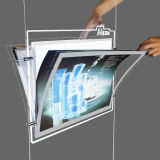 Casella chiara acrilica del LED con il marchio acquaforte