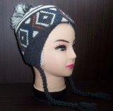 Sombrero hecho punto estilo asiático de encargo de la gorrita tejida del modelo nuevo con Earflap (1-2272/73/74/76)