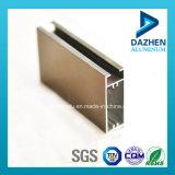 Anodizado bronce de aluminio perfil de marco de ventana de la puerta abatible