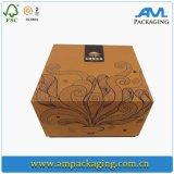 Conteneur en papier carré en carton Emballage en céréales personnalisé