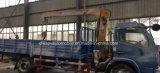 6 Räder 4 Tonnen teleskopische Kran-Laden-LKW-hingen mit XCMG Kran für den Export ein