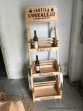 Популярная и творческая деревянная полка вина индикации вина тележки