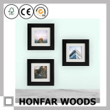 Bâti classique de photo d'illustration en bois solide de rectangle