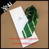 Lazo de club tejido telar jacquar hecho a mano de la seda del 100% con el rectángulo del sobre