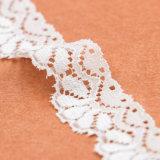 最新のガウン材料はナイロンスパンデックスの花嫁の伸縮性があるレースのトリムを設計する