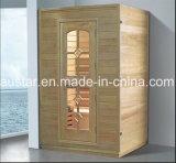 sauna de madeira Spruce quadrada de 1000mm para as únicas pessoas (AT-8612)