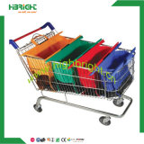 Venda Por Atacado Supermercado Poliéster Nylon Reusável Foldable Folding Vegetable Shopping Cart Trolley Bag