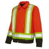 Водоустойчивая безопасности Hi-Визави отражательная и Windproof куртка с Hoody