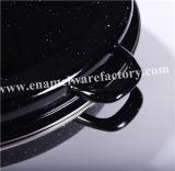 Esmalte de acero al carbono Asador con los palillos