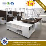 Mesa de escritório executivo superior de madeira chinesa dos pés do metal da mobília de escritório (HX-ND167)