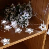 Fairy деревянный шнур звезды освещает 20 СИД для декора рождества приём гостей в саду венчания