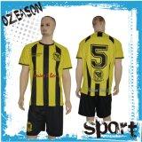 高品質安い通気性のOEMサービスサッカーの均一フットボールのワイシャツ