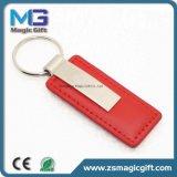Preiswertes Preis-Geschenk-Metallleder Keychain förderndes Geschenk