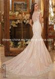 Le chapeau royal de Champagne gaine la robe de mariage de sirène (Dream-100077)
