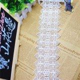 Breiten-Stickerei-weiße Spitze-Polyester-Stickerei-Zutat-Nylonphantasie-chemische Spitze des Fabrik-auf lager Großverkauf-8cm für Kleid-Zusatzgerät u. Hauptgewebe u. Vorhänge