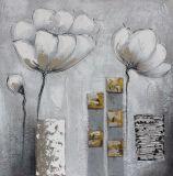 Pintura al óleo pintada a mano del estilo especial de la flor para la sala de estar