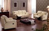 Jogo genuíno moderno do sofá do Recliner do couro da sala de visitas