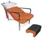 De oranje die Shampoo Chair&Bed van de Kleur in de Apparatuur van de Winkel van de Salon wordt gebruikt