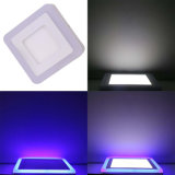 Luz del panel doble montada superficie del cuadrado LED del color 6W