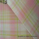셔츠 복장 Rls32-10po를 위한 Lurex를 가진 면 포플린 길쌈된 털실에 의하여 염색되는 직물