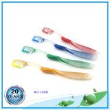 Lichtdurchlässiger pp.-Griff mit Zunge-Reinigungsmittel-Zahnbürste