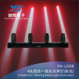 RGBW 4 in teste del 1 del LED del fascio della fase indicatore luminoso 4 della barra che spostano l'indicatore luminoso della testa del fascio