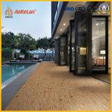 Mattonelle di pavimento di legno di ceramica lustrate calde del materiale da costruzione delle mattonelle di pavimento del getto di inchiostro di vendita