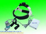 Farol otorrinolaringológico médico portátil do diodo emissor de luz com lupas binoculares