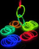 Pulseras coloridas del resplandor