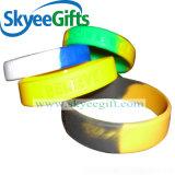 Form-kundenspezifisches Firmenzeichen-/Farben-Silikon-Armband