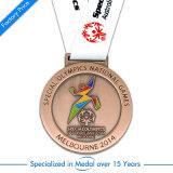 Médaille argentée de récompense de sport du football/football d'invitation d'OEM