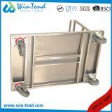 De Duw die van de Hand van het roestvrij staal de Vouwbare Vrachtwagen van het Karretje Flatform voor MultiDoel bewegen
