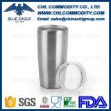 Dupla parede isolada Vacuum Travel Flask Mug com palha