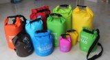 Droge Zak van Drybag van het Geteerde zeildoek van het Pak van het Embleem van de douane de Waterdichte Oceaan Zwemmende 20L 30L voor de Zak van Sporten