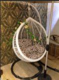 Presidenze d'attaccatura del balcone della presidenza del cestino dell'oscillazione esterna del rattan con Armrests-3