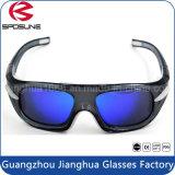 方法カスタムブランドのロゴ二焦点型のバスケットボールのEyewearガラスの最も涼しく黒いフレームおよび青いレンズの目の安全メガネ