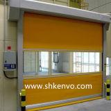 Puerta Rápida Rápida de Alta Velocidad del Obturador del Rodillo de la Tela del PVC del Sitio del Congelador