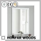 Frame de madeira quadrado gama alta do espelho de Brown para a decoração
