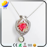 925 gemme naturali di Topa intarsiate argento puro Pendant