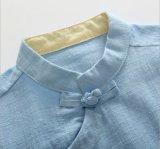 Kinderen die van de Katoenen van de Persoonlijkheid van de Jongen het Overhemd van Hanfu van de Slijtage Zomer van de Jongen kleden