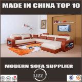 Sofá de couro em forma de u da mobília Home moderna