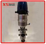 25.4mm Ss304 위생 압축 공기를 넣은 위치 센서를 가진 시트 벨브를 기분 전환한다