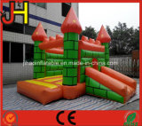 Aufblasbares springendes Prahler-Schloss mit riesigem verdoppeln das kombinierte Plättchen