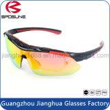 Inserção do frame do Myopia que dá um ciclo óculos de sol UV400 polarizados dos óculos de sol de Hikking prescrição elevada os anti