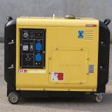 バイソン(中国) OEMの工場BS6500dsea 5kVA 5kwホーム使用法のためのAir-Cooled小さい携帯用ディーゼル5000W無声発電機