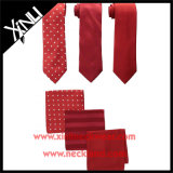 Lazos flacos tejidos telar jacquar de la seda del 100% y cuadrados Pocket