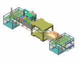 Jogar-Tipo Integrated linha de produção infravermelha material do aquecimento